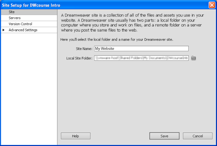 dreamweaver php server setup