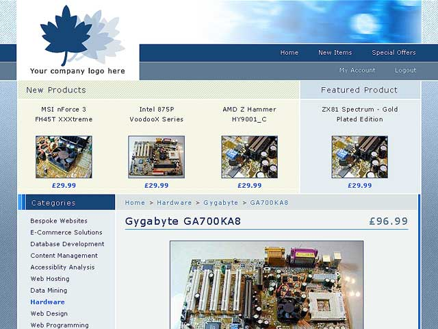 Free ecommerce templats dreamweaver for Free php templates for dreamweaver